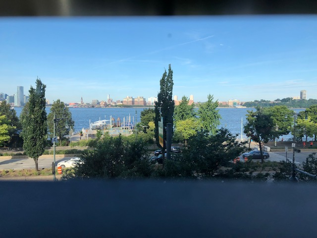 View of the Hudson River from the room