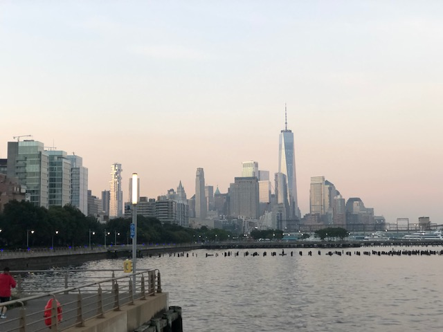 NYC Downtown skyline from the Hudson River