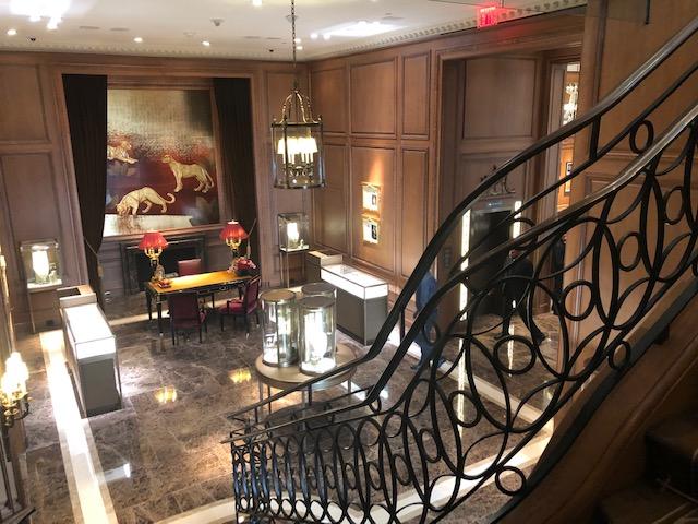 Inside the Cartier mansion - opulent atmosphere, rich art
