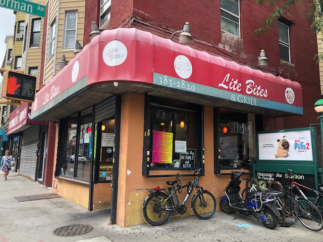 Lite Bites restaurant from the outside