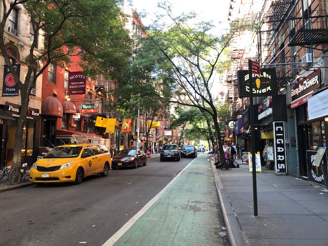 A block jam-packed with restaurants