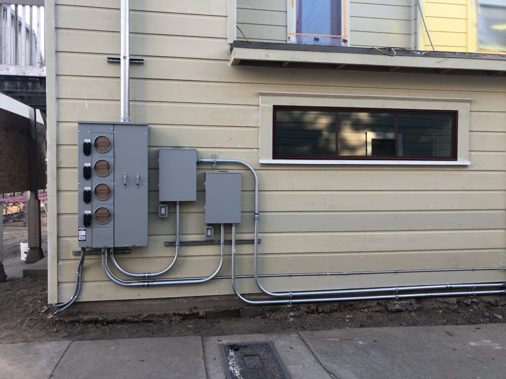 Photo of new electrical panels